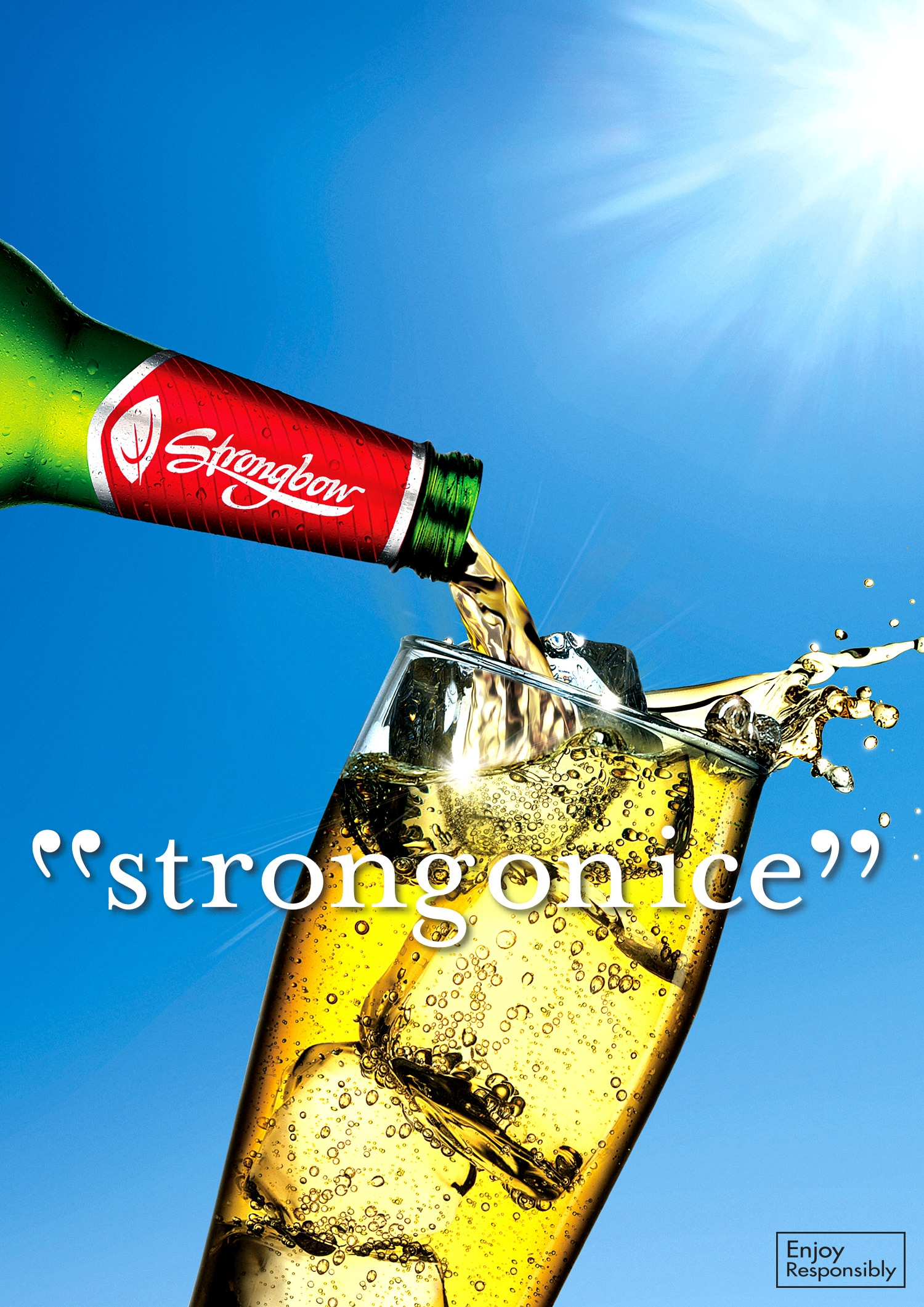 Strongbow: Strong on Ice - Is a print and outdoor campaign designed to encourage Australians to change the way they drink cider. I was responsible for the art direction on this project.