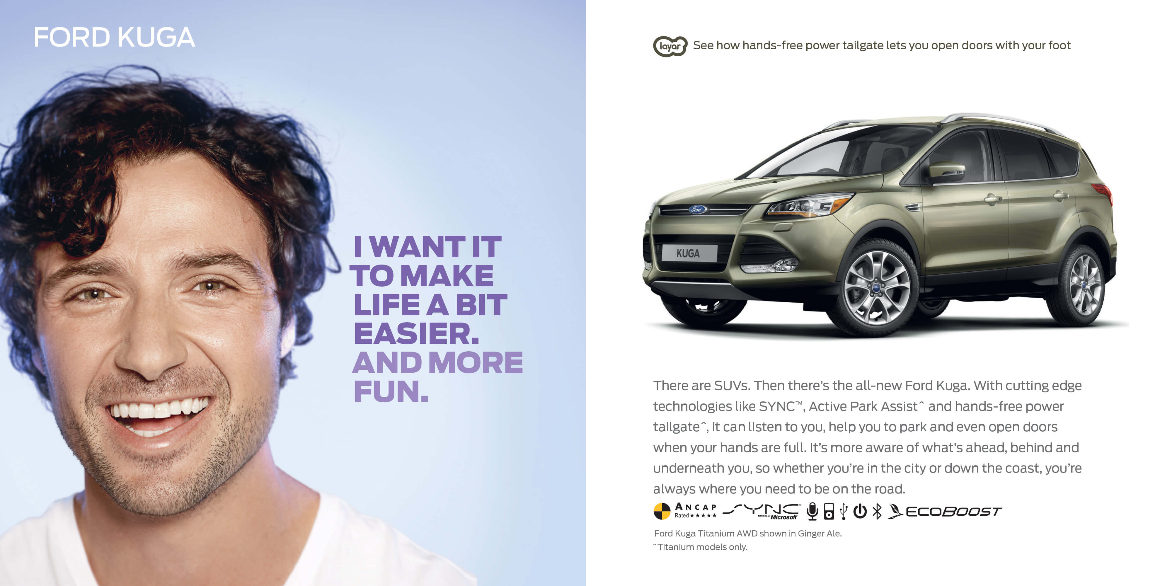 Ford: Augmented Reality Retention Book is part of a customer CRM repurchase program and used Layar AR technology to close the gap between offline concept and online content. I was creative director on this project.
