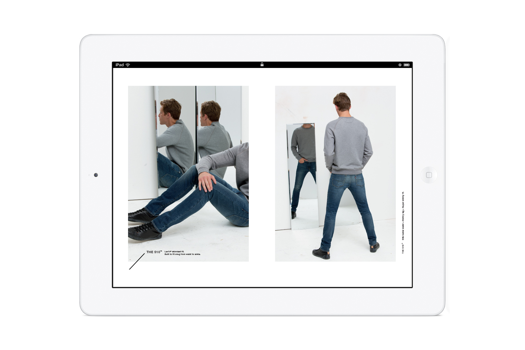 Levi's: Look Book is a seasonal in-store iPad kiosk for Levi's denim jeans range. I was creative director on this project and oversaw the interaction design and art direction.